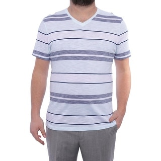 Alfani Novelty 5 Slim Fit V-Neck T-Shirt Men Regular Basic T-Shirt