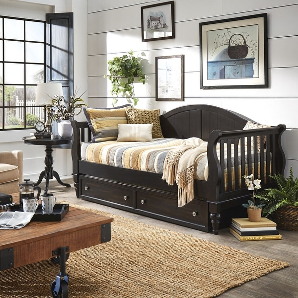 Wallace Traditional Wood Slat Daybed and Trundle by iNSPIRE Q Classic. Opens flyout.