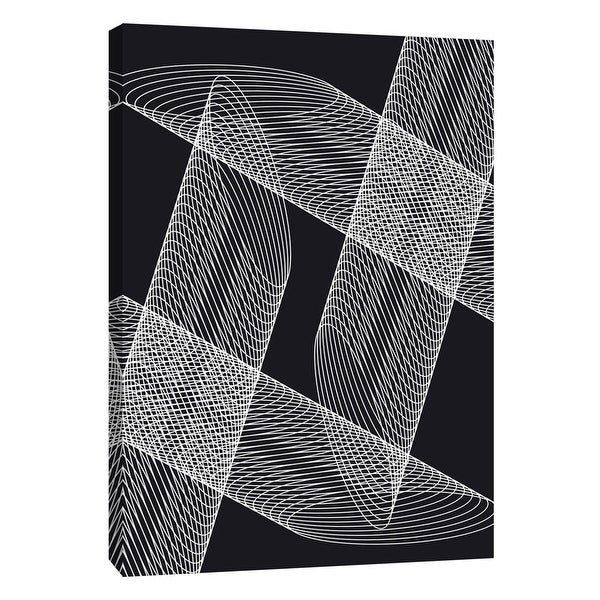 """PTM Images 9-105839 PTM Canvas Collection 10"""" x 8"""" - """"Linear Motion 4"""" Giclee Abstract Art Print on Canvas"""