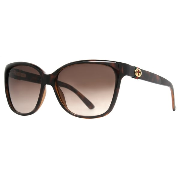 Gucci GG 3645/S DWJ/HA Havana Brown/Brown Gradient Women's Sunglasses - havana brown - 56mm-15mm-135mm