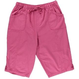 Karen Scott Womens Cotton Comfort Waist Skimmers - XL