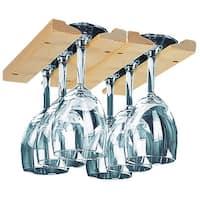 Hardwood Hanging Wine Glass Rack