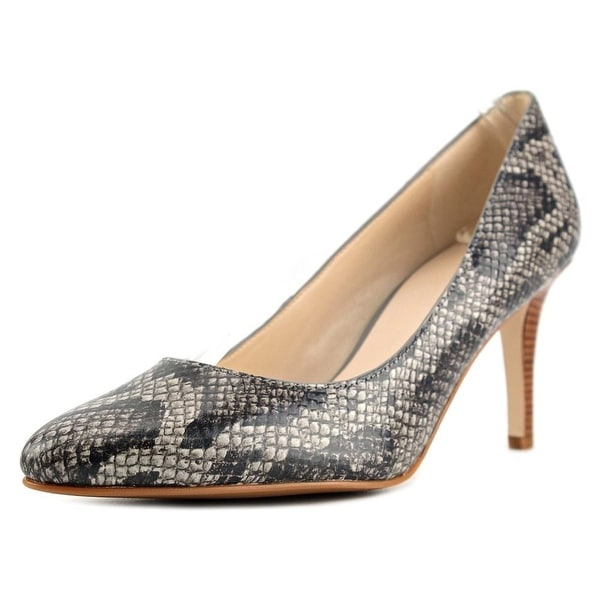 Cole Haan Lena Pump II Women Round Toe Leather Gray Heels
