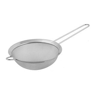 """Link to Kitchen Metal Food Noodle Flour Mesh Strainer Colander Sieve Sifter - Silver - 12.6"""" x 6.3"""" x 2.4""""(L*Max.D*Depth) Similar Items in Cooking Essentials"""