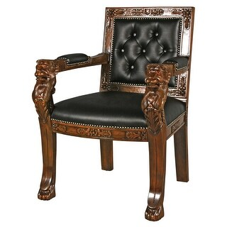 Beardsley Leather Lion Chair DESIGN TOSCANO lion chair real leather chair