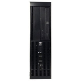 HP 6000 Pro Desktop Computer SFF Intel Pentium E6300 2.8G 8GB DDR3 250G Windows 7 Pro 1 Year Warranty (Refurbished) - Black