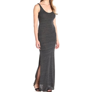 Alternative NEW Gray Womens Size XL Space-Dyed Scoop-Neck Maxi Dress