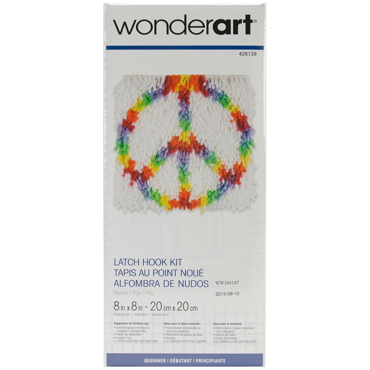 "Caron Wonderart Latch Hook Kit 8/""X8/""-Panda"
