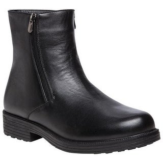 Propet Men's Troy Ankle Boot Black Leather
