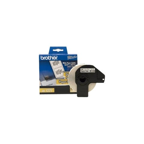 Brother international corporat dk1221 dk-1221: 10 / 11 x 10 / 11 square paper label for use with square label: for ql - White