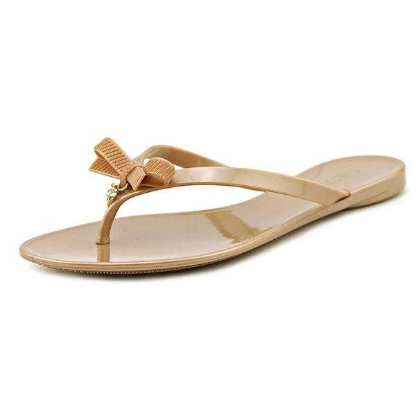 ace2c2e2304 Shop Guess Joyae Women Open Toe Synthetic Nude Thong Sandal - Ships ...