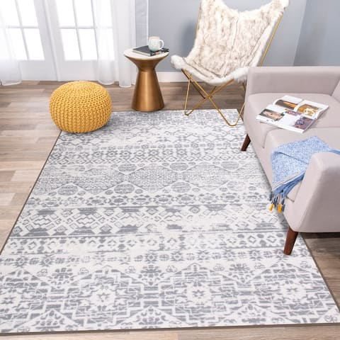Modern Distressed Boho Non Skid Area Rug