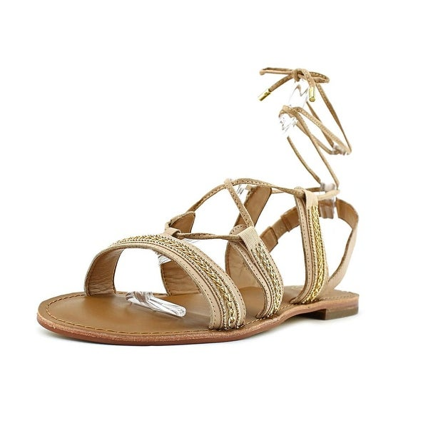 Franco Sarto Morale Women Open-Toe Leather Nude Slingback Sandal