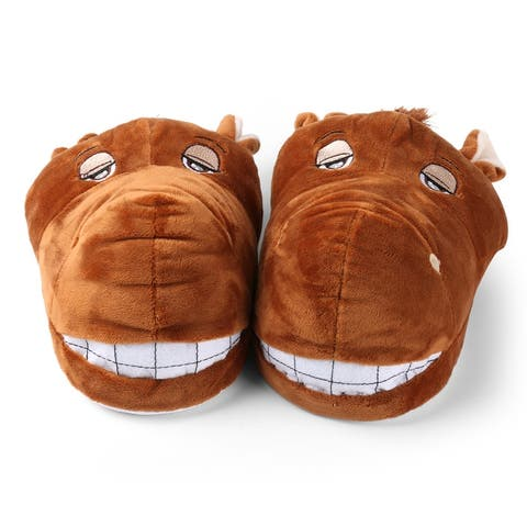 Kids Soft Plush Horse Horsy Animal Family Home Slippers