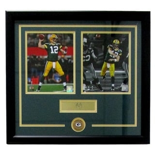 Aaron Rodgers Framed 21x23 Green Bay Packers Photo Laser Engraved Signature