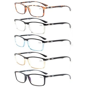 aac0b751d69 Shop Eyekepper 5-Pack Clear Vision Stylish Look Unique Hinges Reading  Glasses+1.25 - Free Shipping On Orders Over  45 - Overstock - 16020715