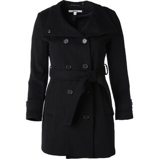 DKNY Womens Military Coat Wool Blend Double-Breasted - 14