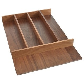 Rev-A-Shelf 4WUT-WN-1SH 4WUT Series 15-1/8 Inch Trimmable Cutlery Tray with 5 Co