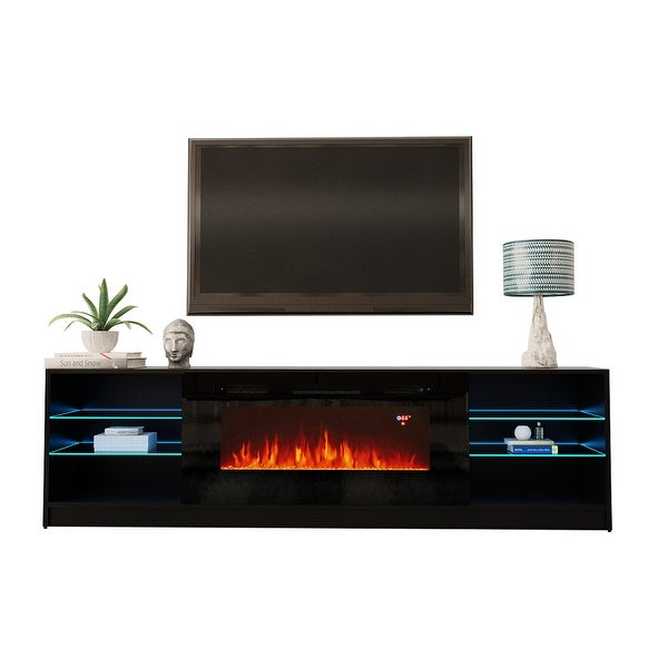 Strick & Bolton Amsden Electric Fireplace TV Stand. Opens flyout.