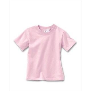 Hanes T120 Comfortsoft Crewneck ToDDler T-Shirt Size 2T, Pale Pink