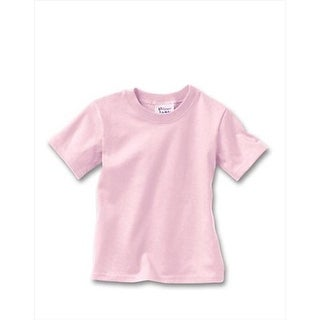Hanes T120 Comfortsoft Crewneck ToDDler T-Shirt Size 4T, Pale Pink