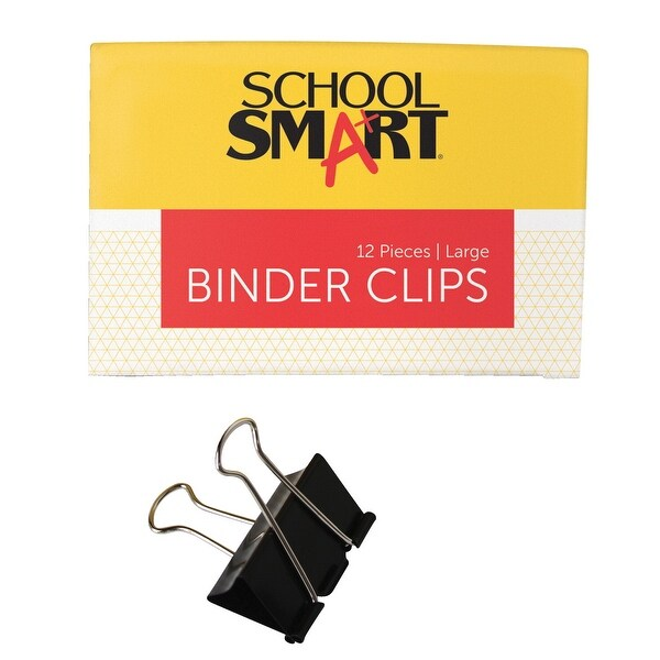 shop school smart binder clip large 2 inches pack of 12 on sale