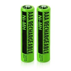 Replacement Panasonic NiMH AAA Battery for HHR-4DPA / HHR-60AAA/FT Batteries Models- 2Pk