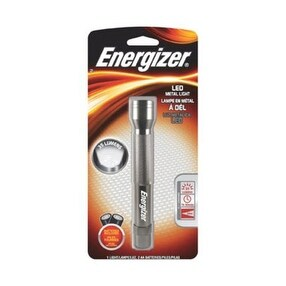 Energizer ENML2AAS LED Metal Flashlight, 35 Lumens, 2AA, White