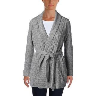 NYDJ Womens Petites Cardigan Sweater Knit Marled