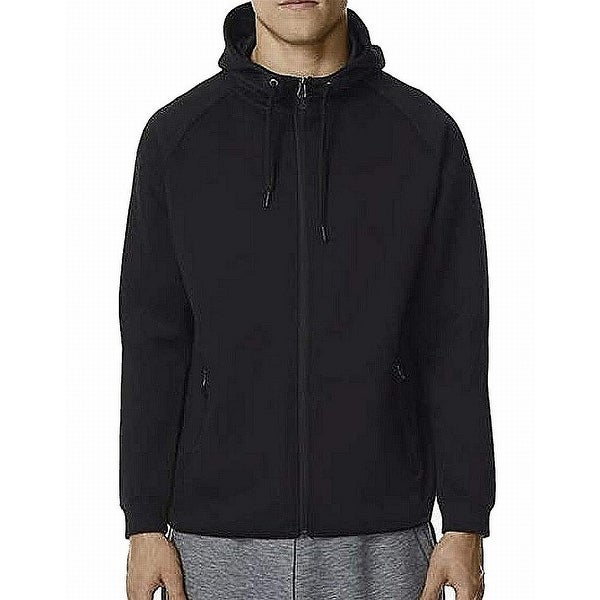 2357499db55f31 Shop 32 Degrees Black Men's Size XL Full Zip Hooded Fleece Sweater - On Sale  - Free Shipping On Orders Over $45 - Overstock - 28247133