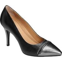 Aerosoles Women's Endearment Pump Black Combo Leather