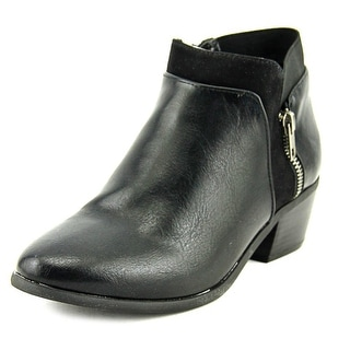 London Fog Fort   Round Toe Leather  Bootie