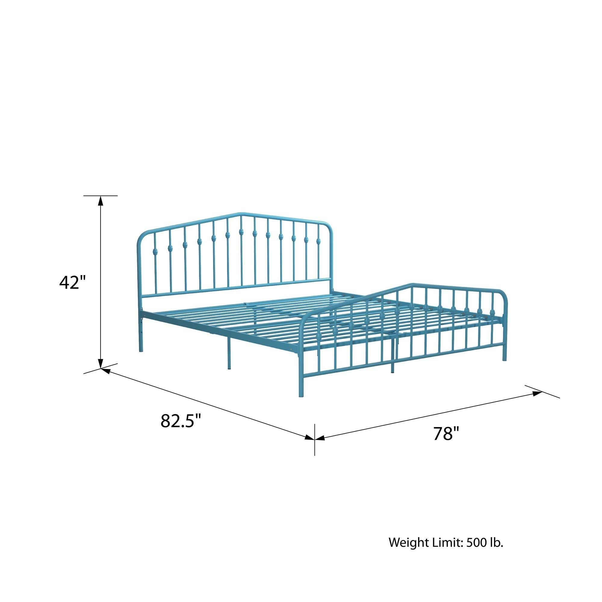 Novogratz Bushwick Metal Bed Overstock 31772108