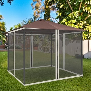 Link to Outsunny Replacement Mosquito Netting for 10' x 10' Gazebo Similar Items in Pants