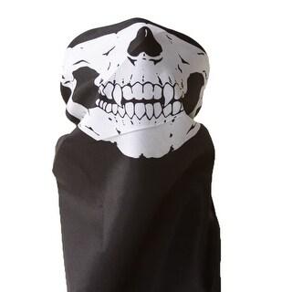Bandana Skull/Skeleton Mask - Black/White