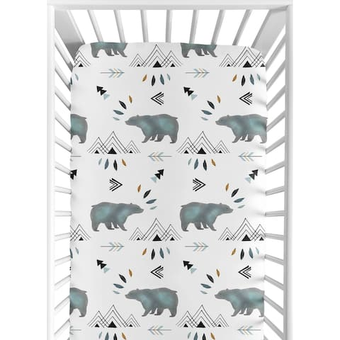 Sweet Jojo Designs Fitted Crib Sheet for the Bear Mountain Collection