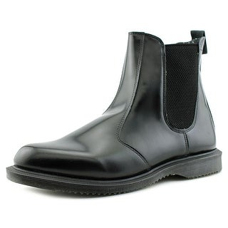 Dr. Martens Air Wair Flora Men  Round Toe Leather Black Ankle Boot