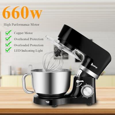 5.8Qt 660W 6-Speed Tilt-Head Stand Mixer, Kitchen Electric Mixer with Dough Hook