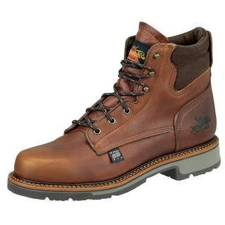 Thorogood Work Boots Mens Leather Job Pro Plain Toe Tobacco 814-4550