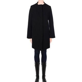 T Tahari Womens Emma Coat Textured Jacket