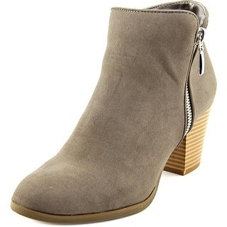 Style & Co Jamila Women Round Toe Canvas Gray Bootie