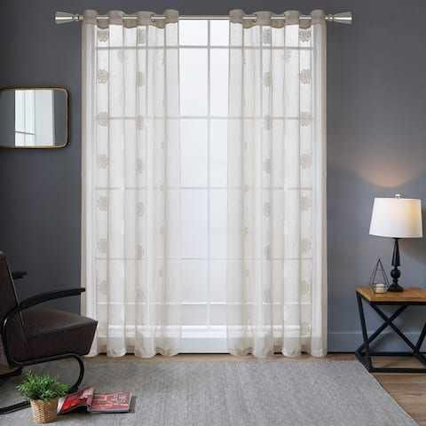 Lyndale Harper Embroidered Sheer Curtain
