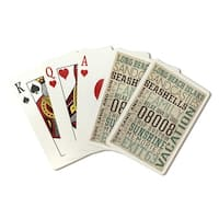 Long Beach Island NJ Typography (#4) - LP Artwork  (Poker Playing Cards Deck)