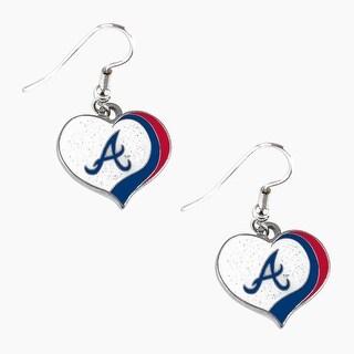 Boston Red Sox Swirl Heart Earrings