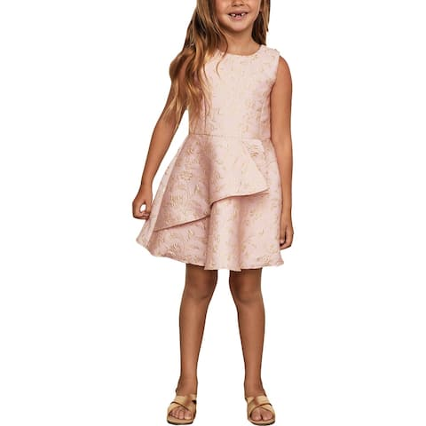 BCBGirls Girls Party Dress Metallic - Soft Pink
