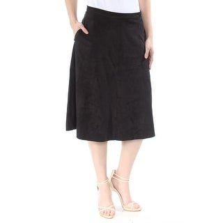Women's Clothing Vince Camto Black Velvet L Skirt