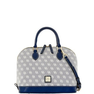 Dooney & Bourke Madison Signature Zip Zip Satchel (Introduced by Dooney & Bourke at $228 in Jan 2016) - Blue