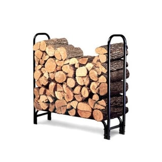 Landmann 82413 4-Foot Firewood Log Rack (Cover not included) - Black