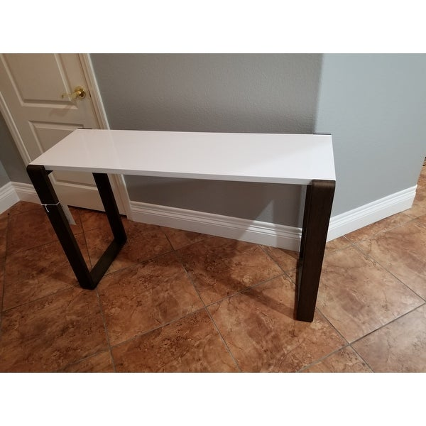 Safavieh Mid Century Modern Bartholomew White Dark Brown Lacquer Console Table Free Shipping Today 9048940