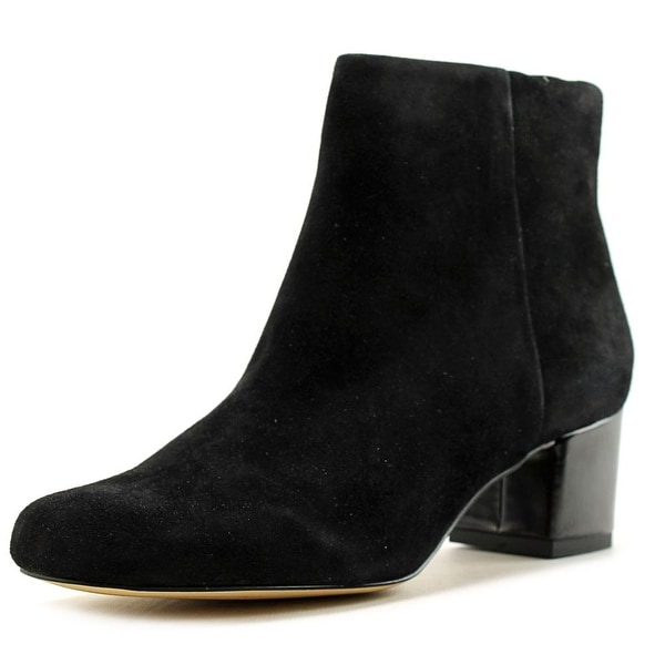 Sam Edelman Edith Women Round Toe Suede Black Ankle Boot